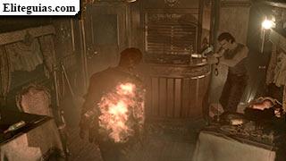 zombi en llamas