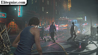 Las calles de Raccoon City y el parking