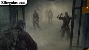 zombis en el pasillo con veneno