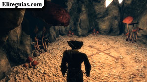 El tesoro en la gruta de Antigua