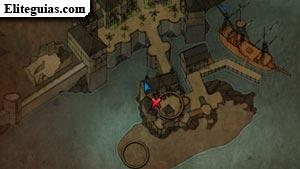 El tesoro en la playa de la fortaleza