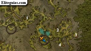 Mapa de las tumbas de los ancestros