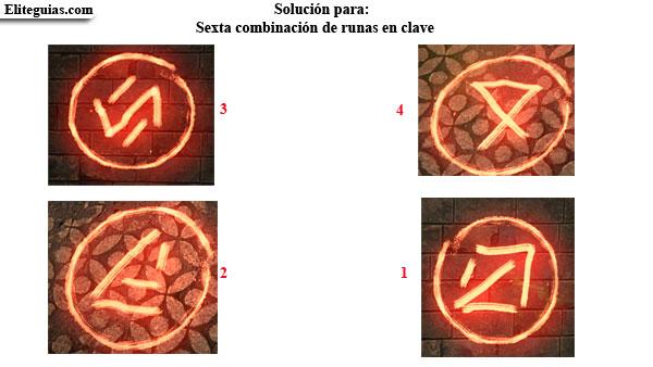 sexta combinación de runas en clave