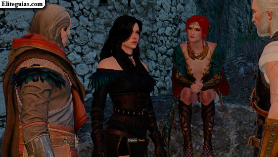 Avallac'h, Triss y Yennefer