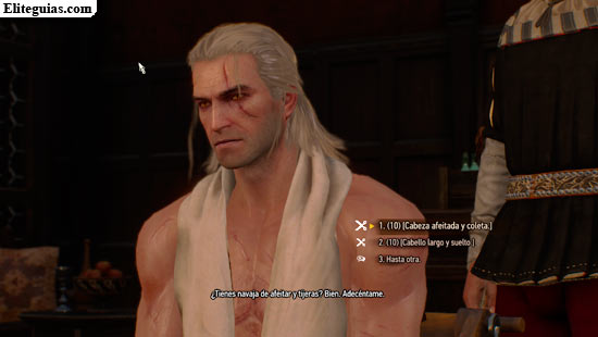 guía the witcher 3: wild hunt - set de barba y peinados para geralt